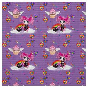 PinkyP Rainbows n Cupcakes cute Kawaii Purple Fabric