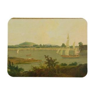 Pinnace que navega abajo del Ganges más allá del f Iman Rectangular