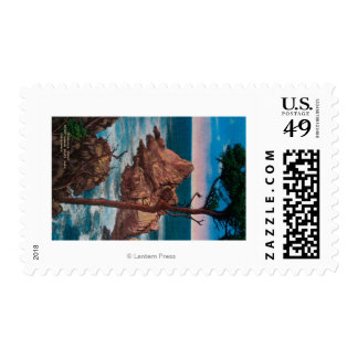 Pinnacle Point, Point Lobas State Park Stamp
