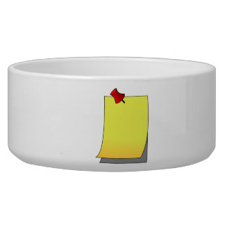 Pinned Note Dog Bowl