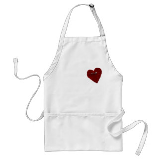 Pinned On Heart Adult Apron