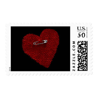 Pinned On Heart Postage