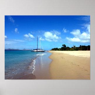 Pinney's Beach Nevis Poster