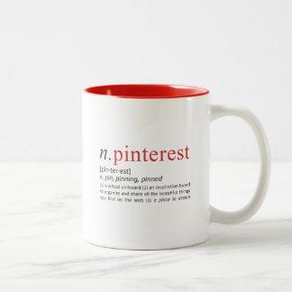 Pinning Definition Two-Tone Coffee Mug