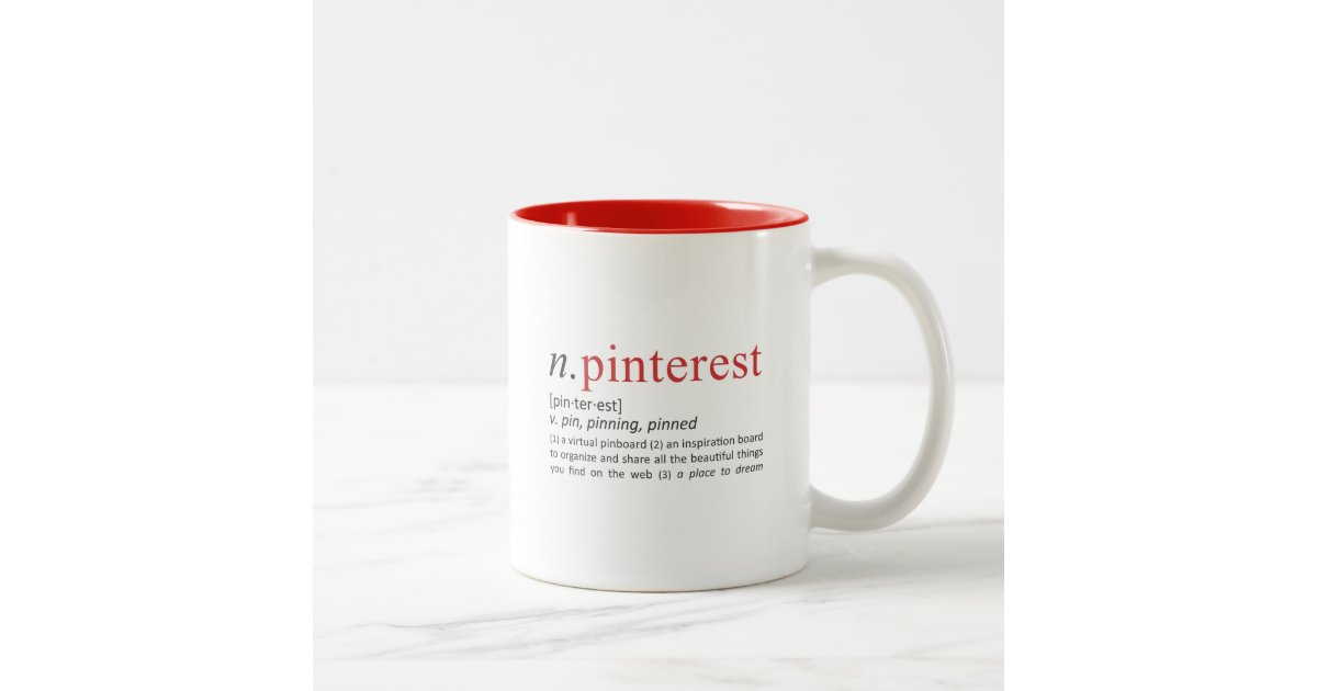 What Is Coffee Maker Definition : Pinning Definition Two-Tone Coffee Mug Zazzle