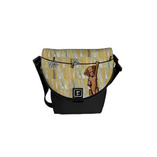 Pinning Up Daisies Doxie Small Messenger Bag