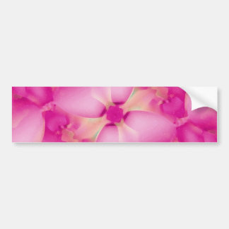 Pinnk Flower Bumper Sticker