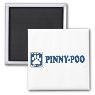 Pinny-Poo Blue 2 Inch Square Magnet