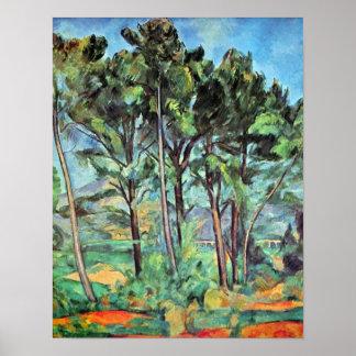 Pino con el viaducto por Cezanne, paisaje del Poster