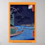 Pino del éxito, río de Asakusa por Andō, Hiroshige Posters