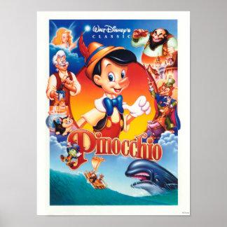 Pinocchio clásico póster