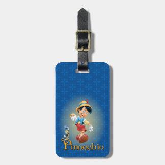 Pinocchio con el grillo 2 de Jiminy Etiqueta De Equipaje