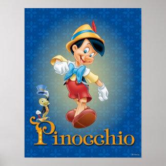 Pinocchio con el grillo 2 de Jiminy Póster