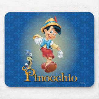 Pinocchio con el grillo 2 de Jiminy Alfombrilla De Ratones