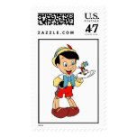 Pinocchio con el grillo Disney de Jiminy Sellos