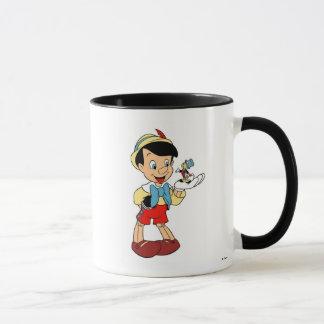 Pinocchio con el grillo Disney de Jiminy Taza