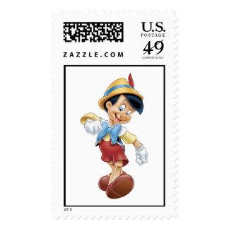 Pinocchio Disney feliz que camina Sello