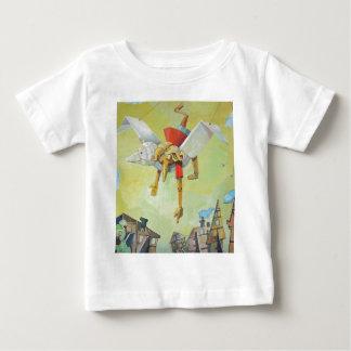 Pinocchio on pigeon. baby T-Shirt