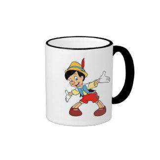 Pinocchio Pinocchio Disney sonriente Taza De Café