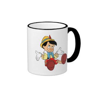 Pinocchio Shrugging His Shoulders Disney Ringer Coffee Mug