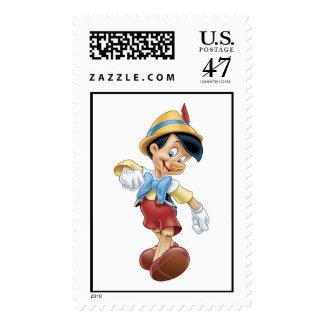 Pinocchio walking happy Disney Postage