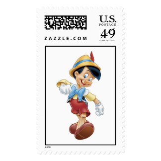Pinocchio walking happy Disney Stamp