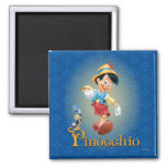 Pinocchio with Jiminy Cricket 2 2 Inch Square Magnet