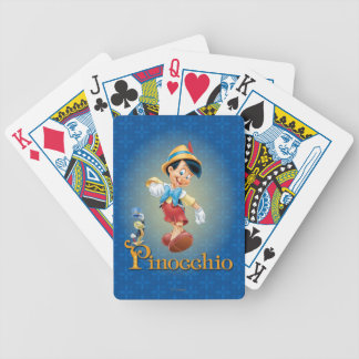 Pinocchio with Jiminy Cricket 2 Bicycle Playing Cards