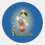 Pinocchio with Jiminy Cricket 2 Classic Round Sticker