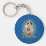 Pinocchio with Jiminy Cricket 2 Key Chain