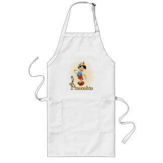 Pinocchio with Jiminy Cricket 2 Long Apron