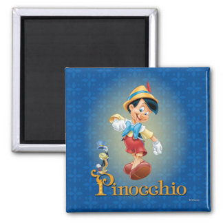 Pinocchio with Jiminy Cricket 2 Magnet