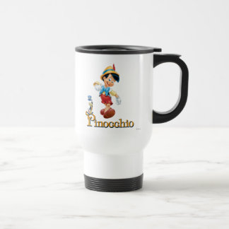 Pinocchio with Jiminy Cricket 2 15 Oz Stainless Steel Travel Mug