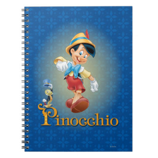 Pinocchio with Jiminy Cricket 2 Notebook