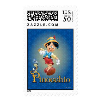 Pinocchio with Jiminy Cricket 2 Postage