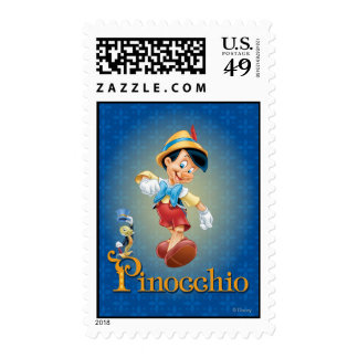 Pinocchio with Jiminy Cricket 2 Stamp