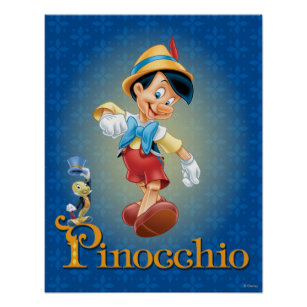 Jiminy cricket gifts on zazzle pinocchio with jiminy cricket 2 poster maxwellsz