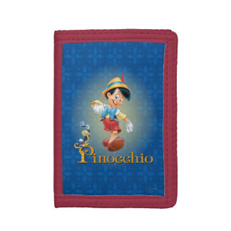 Pinocchio with Jiminy Cricket 2 Tri-fold Wallet