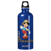 Pinocchio with Jiminy Cricket 2 Water Bottle