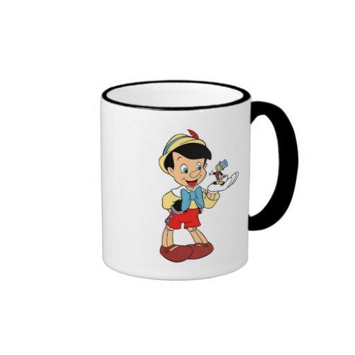 Pinocchio with Jiminy Cricket Disney Coffee Mugs