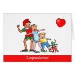Pinocchio y amor de los amigos - tarjeta de cumple