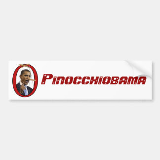 Pinocchiobama Bumper Sticker Car Bumper Sticker