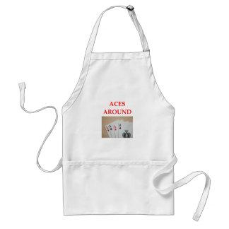 pinochle adult apron