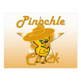 Pinochle Chick #10 Postcard