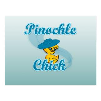 Pinochle Chick #3 Postcard