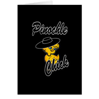 Pinochle Chick #4 Card
