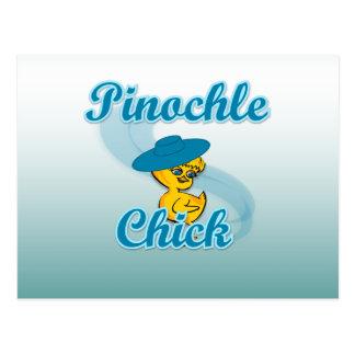 Pinochle Chick Postcard