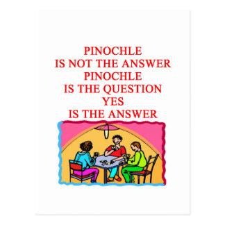 PINOCHLE design Postcard