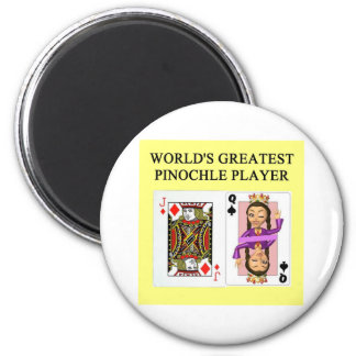 pinochle game player magnet