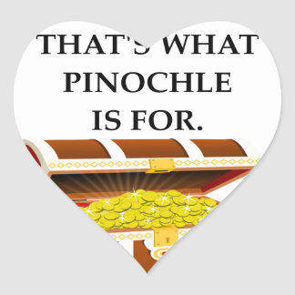 PINOCHLE HEART STICKER